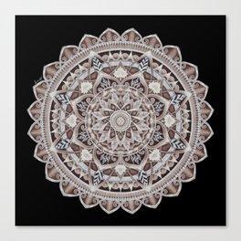 Copper Geo-Circle Black Background  Canvas Print