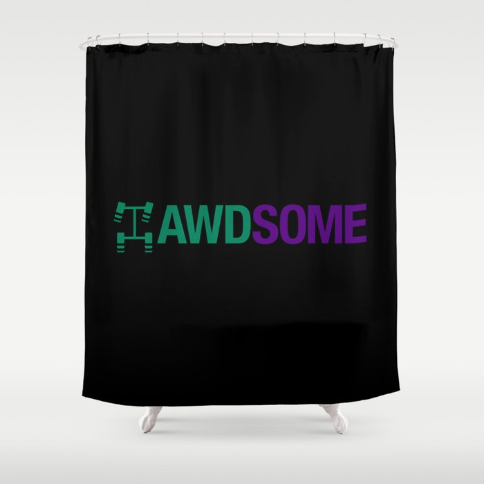 AWDSOME v6 HQvector Shower Curtain
