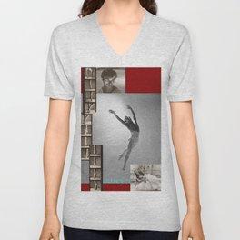Nureyev Collage Portrait Unisex V-Neck