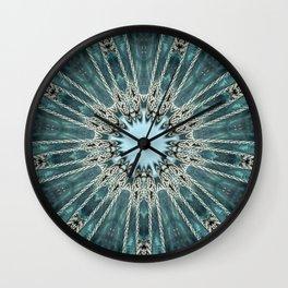 Ocean Seawave Glass Mandala Wall Clock