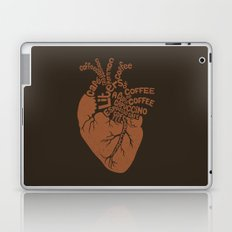 Coffee Lover Heart Laptop & iPad Skin