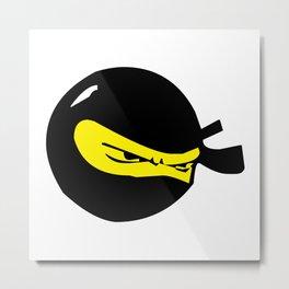 Ninja Smile Metal Print