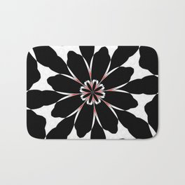 Bizarre Red Black and White Pattern 4 Bath Mat