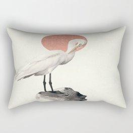 White Wings Rectangular Pillow