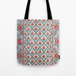 Shakhrisyabz  Suzani Uzbekistan Print Tote Bag