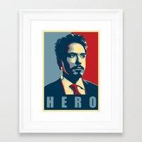 tony stark Framed Art Prints featuring Tony Stark by Cadies Graphic
