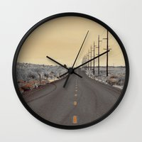 journey Wall Clocks featuring JOURNEY by Teresa Chipperfield Studios