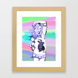 sexy rabbit Framed Art Print