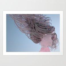 Soft Pink Twist Art Print