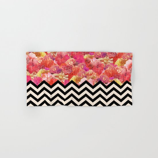 Chevron Flora Hand & Bath Towel