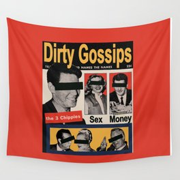 DIRTY GOSSIP MAGAZINE PAPER COLLAGE Wall Tapestry