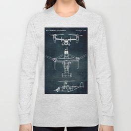 BELL BOEING V-22 OSPREY -1989 Long Sleeve T-shirt