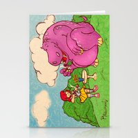 hippo Stationery Cards featuring Hippo by Rafael Paschoal
