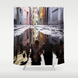 A Reflection of City Life by GEN Z Shower Curtain