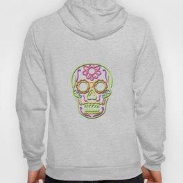 Sugar Skull Neon Sign Hoody