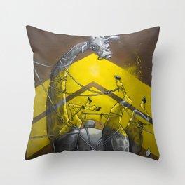 Giraffe up! Throw Pillow