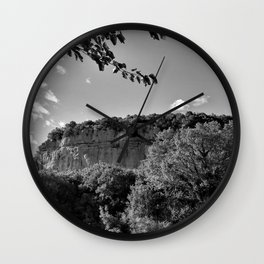 rock cliff at lim channel fjord istria croatia europe black white Wall Clock