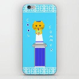 Greek Cat Eating Ice Cream iPhone Skin