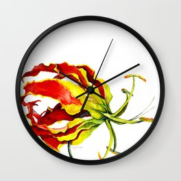 Gloriosa Lily Wall Clock