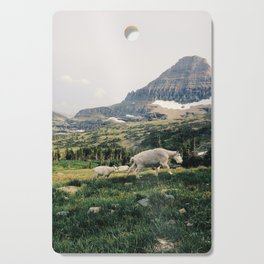 Montana Mountain Goat Family Cutting Board