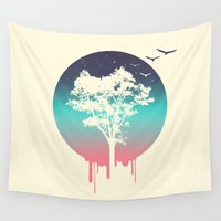 tree of life Wall Tapestries featuring Tree Of Life by Jorge Lopez