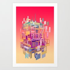 Building Clouds Art Print