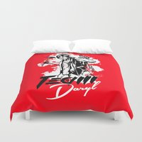 daryl Duvet Covers featuring TEAM DARYL by Dr.Söd
