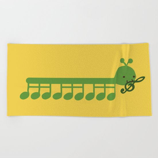 Caterpillar Song Beach Towel