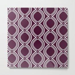 Hatchees (Burgundy Red) Metal Print