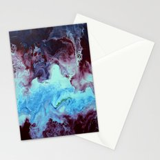 Fluid abstact in blue and purple Stationery Cards