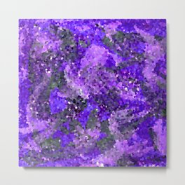 Aftermath of Spring, Abstract Floral Mosaic Art Metal Print