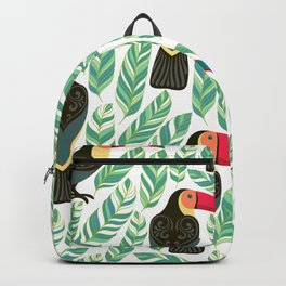 Toucan Seamless Pattern Backpack