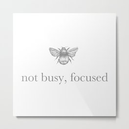 Not your average busy bee Metal Print