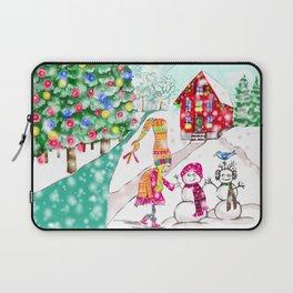 Snowgirl Laptop Sleeve