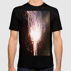 fireworks tracer Mens Fitted Tee MEDIUM Black