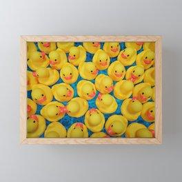 Rubber Duck Meet and Greet Framed Mini Art Print