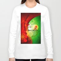 merry christmas Long Sleeve T-shirts featuring Merry christmas by nicky2342