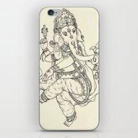 ganesha iPhone & iPod Skins featuring Ganesha by Makenzie