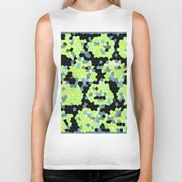 Cell Print Home Decor Graphic Design Pastel Colors Green Grey Blue Black Mint Lime Kiwi Biker Tank