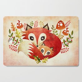 Fox Mom & Pup Cutting Board
