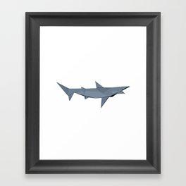 Origami Shark Framed Art Print