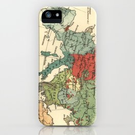Vintage Linguistic Map of Europe (1907) iPhone Case