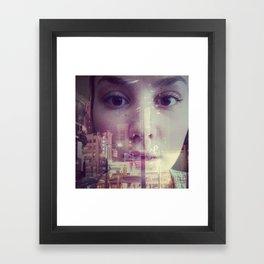 big city lights Framed Art Print