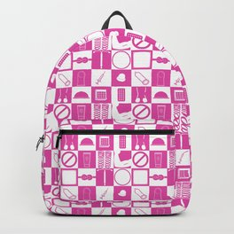 Contraception Pattern (Pink) Backpack