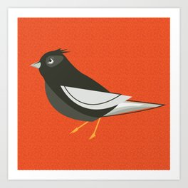 Retro Birdy Art Print