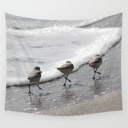Sandpipers Birds on the Beach Wall Tapestry
