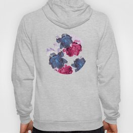 big floral on gray Hoody