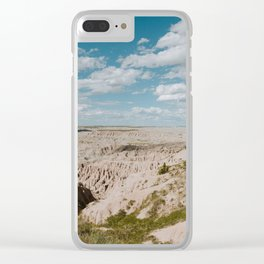 Red Shirt Table - Badlands National Park Clear iPhone Case