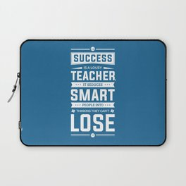 Lab no. 4 Success is a lousy teacher motivational quote poster Laptop Sleeve