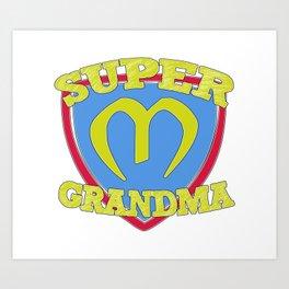 Super Grandma Art Print